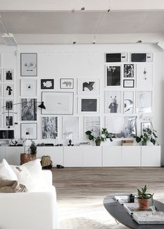 Monochrome furniture for the living room / bedroom. Chic and tumblr.