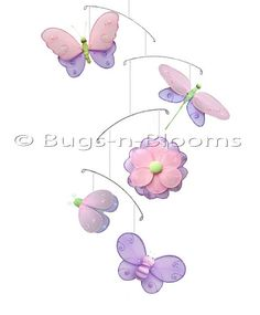 Butterfly Mobile Nylon Hanging Hailey Butterflies Dragonfly Ladybug Bee Flower Mobiles Baby Nursery Girls Bedroom Ceiling Hanging Decor