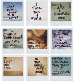 I'd like to do this and put them up as surprises for Vic and I in our future abode. Do polaroid cameras still exist? Am I too late?