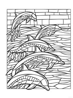 90 Mosaic Coloring Pages For Adults