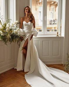 Unique & Hot: 27 Sexy Wedding Dresses Ideas ❤ sexy wedding dresses ideas simple sweetheart strapless neckline millanova #weddingforward #wedding #bride #weddingoutfit #bridaloutfit #weddinggown