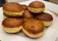 Farsangi fánk (szalagos)   Varga Gábor (ApróSéf) receptje - Cookpad receptek Pretzel Bites, Hamburger, Bread, Food, Brot, Essen, Baking, Burgers, Meals