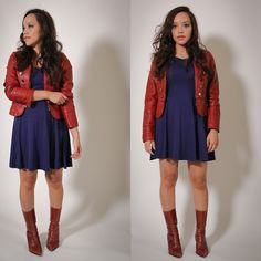 Forever 21 Jacket, Persunmall Dress, Vintage Boots