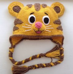 Daniel Tiger hat by Ambercraftstore on Etsy https://www.etsy.com/listing/244240909/daniel-tiger-hat