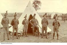 Tasmanian Mounted infantry Australian Contingents to the Boer War British Army Uniform, Anzac Day, Tasmania, Armed Forces, World War, Army Badges, Vietnam, Africa, Military