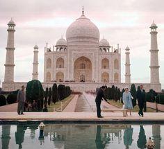 Queen Elizabeth and Prince Phillip at the Taj Mahal
