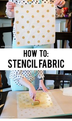 Learn How to Stencil Fabric to make custom printed fabrics, draperies, rugs, pillows and more | eBay [ad]