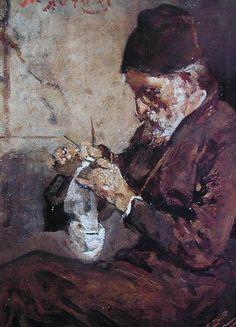 File:Lytras Nikiphoros Knitting monk.jpg