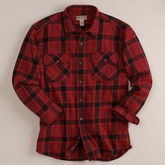 The Burlyweight Heavy Flannel Shirt from Duluth Trading Company is about the heftiest one you're likely to find, in cotton flannel. Heavy Flannel Shirt, Duluth Trading Company, Workout Shirts, Work Wear, Plaid, Cotton, Gift Ideas, Tops, Free
