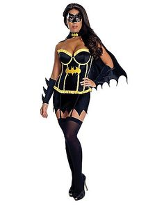 Batman Batgirl Corset Adult Womens Costume - Spencer's