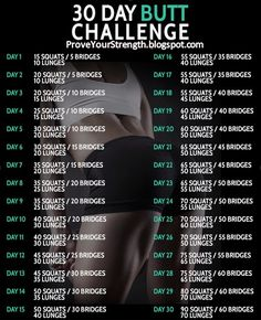 30 day butt challenge tighten and tone your butt and legs in no time at all. Works so good and rounds your butt so fast. you'll be so proud of those tight and toned muscles