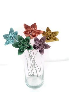 Valentine's Day gift, flowers - Kusudama Paper Origami Flower set of 5 with by SimplyGreenDesigns, $17.00