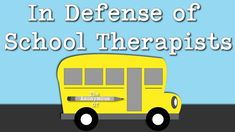 School therapists often take the brunt of parent frustration with progress in school, but there are many factors you should keep in mind. Therapist Office, Physical Therapist, Occupational Therapy Humor, School Ot, Public School, Pediatric Ot, Speech And Language, Social Work, Psychology