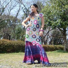 Hippie Dress a crochet stitch