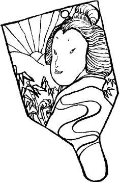 japanese fan coloring page - 1000 images about ninjas on pinterest chinese new years
