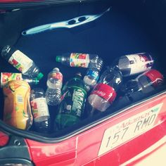 When saving the world takes over your cartrunk...  #recycling  #mytrunk