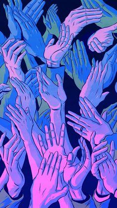 My fav phone wallpaper - Vaporwave Trippy Wallpaper, Iphone Background Wallpaper, Cool Wallpaper, Trippy Iphone Wallpaper, Hand Wallpaper, Wallpaper Desktop, Mobile Wallpaper, Aesthetic Backgrounds, Aesthetic Iphone Wallpaper