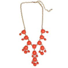New Statement necklace in Coral - Perfect for Valentine's Day!