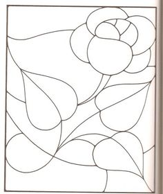flower stained glass round panel pattern outline pinterest. Black Bedroom Furniture Sets. Home Design Ideas