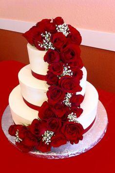 wedding cakes with bling Luxury Creations Houston, TX Bling Wedding Cakes, Wedding Cake Red, Red Rose Wedding, Elegant Wedding Cakes, Beautiful Wedding Cakes, Wedding Cake Designs, Beautiful Cakes, Wedding Ideas, Bolo Fack
