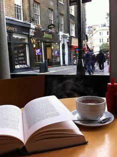 having coffee and a book at a cafe in Covent Garden, London Coffee And Books, I Love Coffee, Coffee Break, My Coffee, Morning Coffee, Coffee Shop, Coffee Lovers, Covent Garden, Pause Café