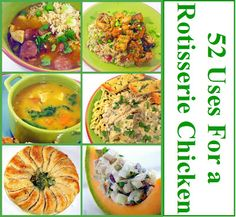 Inspired By eRecipeCards: 52 Uses for a Rotisserie Chicken
