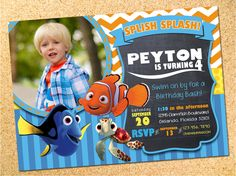 Donald Duck Inspired Birthday Party Photo Invitation - Customizable - Printable - DIY by Owen & Sally Designs