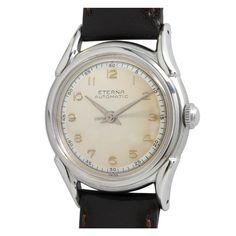 Eterna Stainless Steel Eternamatic Wristwatch circa 1950s    1st dibs. $575