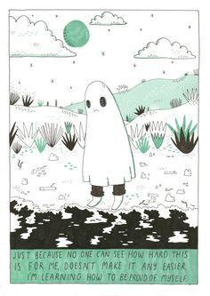 Sad Ghost Background Cool, Ghost Comic, Lynda Barry, Pics Art, Oeuvre D'art, Art Inspo, Les Oeuvres, Illustration Art, Illustrations