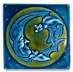 Bats and the Moon Tile...Products | Ephraim Pottery | Page 10...Happy Bat Appreciation Day, a day late :).