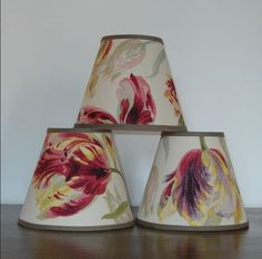 "Laura Ashley Gosford Cranberry 5.75"" Handmade Candle Clip Lampshade Wall Light"