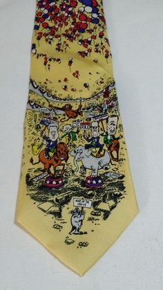 """Mark Fore & Strike 1996 """"  None Of The Above """" Election  100% Silk Mens Tie  #markforestrike #Tie"""