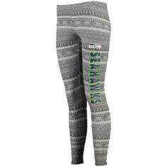Women's Seattle Seahawks Concept Sports Charcoal Comeback Tribal Print Leggings