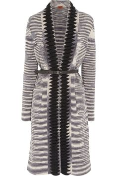 Missoni Belted cashmere and wool-blend cardigan