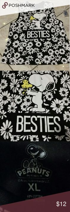 ?? CUTEEE Peanuts Tank Top ?? Absolutely adorable Peanuts Tank top. Features Snoopy and his little pal, like new, only worn about 2 times. Size xl. Forever 21 Tops