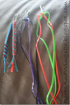 known as plastic lacing or scoubidou