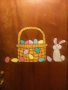 Miss Mel + Miss Heather: DIY: Easter Door!