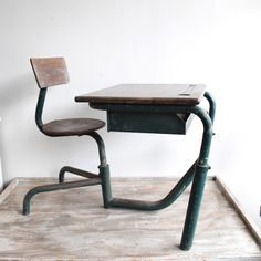 Industrial Childrens Desk and Chair