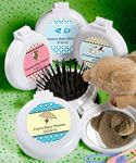 Personalized Expressions Collection Brush & Mirror Compact Favors - A bargain at less than $.99 apiece! Order yours today!
