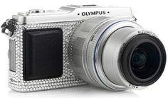 Say Bling.  #custom #swarovski #crystals #camera #olympus #customised #brand #monday #mocrystals #photography