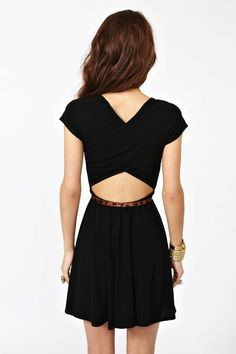 Crossed Skater Dress | Shop What's New at Nasty Gal