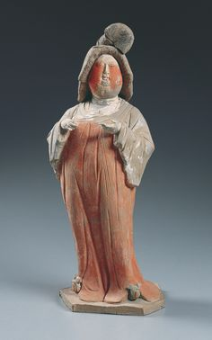 Chinese  Court Lady  First half of the 8th century  China, probably Shaanxi…