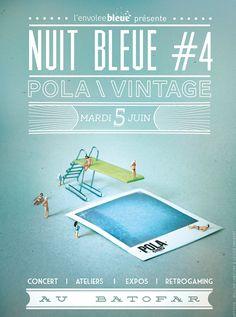 Communication graphique du festival POLA 2012 : affiches, cartes de visite, programme...