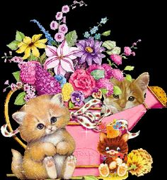 flores encontradas en la web Kitty Wallpaper, Cute Cats And Kittens, Kittens Cutest, Unique Animals, Cute Animals, Beautiful Morning Pictures, Angel Coloring Pages, Cute I Love You, Kitten Cartoon