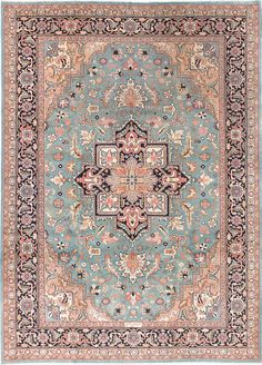 "Vintage Inspired Sarabi Pastel Pink and Blue large( Parmis)Rug 8'3"" x 11'6"" by kordestanicollection on Etsy https://www.etsy.com/listing/399168839/vintage-inspired-sarabi-pastel-pink-and"