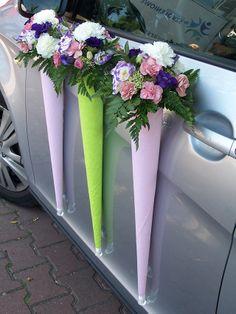 wedding car, decoration