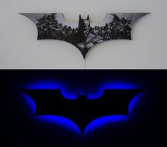 Batman LED light - so cool.  Step by step instructions