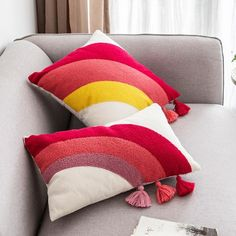 Cushion Cover Designs, Pillow Cover Design, Pillow Covers, Chair Covers, Home Decoration Brands, Embroidered Cushions, Pillow Embroidery, Punch Needle, Weaving