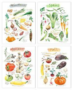 Vegetable print set #gardendesignvegetable