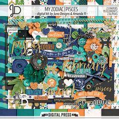 My Zodiac | Pisces - Digital Kit by Juno Designs and Amanda Yi